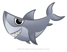 Sharks Can Be Cute And Fun To Draw Learn How A Nice Cartoon