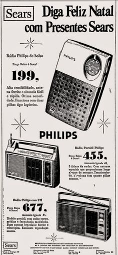 Anúncio rádio Philips - lojas Sears - 1976
