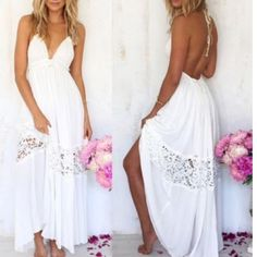 In Stock now Cotten blend white summer dress Sizes Small and Large only. I have reordered Cotten blend long white maxi dress for spring summer Just request your size and I will make a listing for you. Price is firm no trades. Sherri Souza Boutique Dresses Maxi