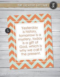 Color Chevron Printable Quotes - 8x10. $10.00, via Etsy.    www.creativecodesign.com    Inspiration