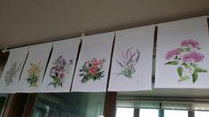 2번째 이미지 Fabric Painting, Roman Shades, Embroidery Applique, Curtains, Watercolor, Quilts, Flowers, Blog, Home Decor