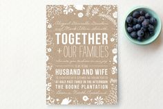 Craft and Florals Wedding Invitations by Bethany Anderson at minted.com #sparklingeverafter