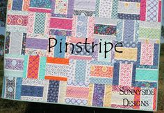 Modern Quilt Pattern Pinstripe Moda Layer Cake by SunnysideFabrics