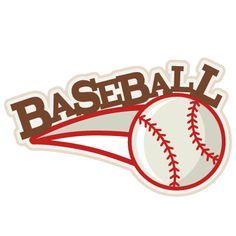 Baseball SVG scrapbook title baseball