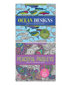 Love this Two-Piece Ocean Designs & Peaceful Paisleys Coloring Book Set on #zulily! #zulilyfinds