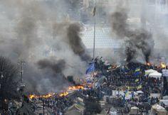 Ukraine : l'embrasement de Kiev en images