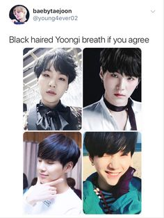 Bighit! We want black haired Bangtan!