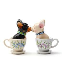kissing teacup chihuahua salt & pepper shakers - adorable!!