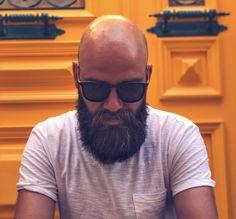We took a shine to this dome. Bald Men With Beards, Bald With Beard, Beard Styles For Men, Hair And Beard Styles, Shaved Head With Beard, Bald Men Style, Beard Game, Hipster Beard, Sexy Beard