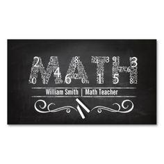 business card for english tutor math teacher business card reheart Gallery