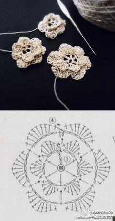 钩针花 tons about crochet Crochet Butterfly Free Pattern, Crochet Flower Tutorial, Crochet Flower Patterns, Crochet Diagram, Crochet Motif, Crochet Designs, Crochet Flowers, Crochet Doilies, Diy Crafts Knitting