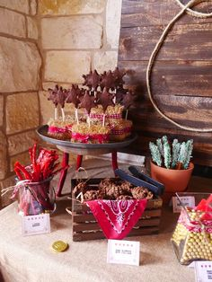 Western sweets + desserts from a Wild West Birthday Party on Kara's Party Ideas | KarasPartyIdeas.com (8)