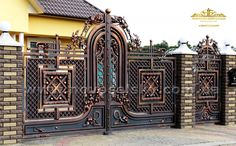 Ворота №40 Grill Gate Design, Steel Gate Design, Front Gate Design, Main Gate Design, Door Gate Design, Stainless Steel Gate, Garden Gates And Fencing, Wrought Iron Beds, Custom Gates