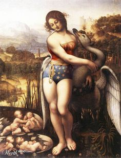 When Superheroes invite themselvesin classical painting, a selection of creations by users of Worth1000, a website specialized in photo editing contests. Some