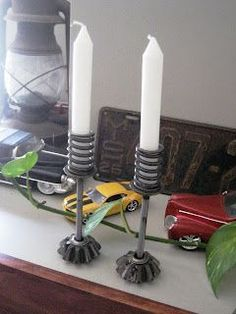 flint handmade: Upcycling Love: Spare Metal Car Parts into Home Decor!