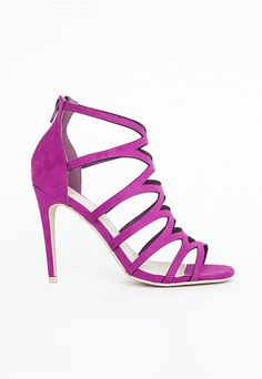 Alanah Laser Cut Sandals In Purple - Footwear - Sandals - Missguided