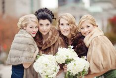 I want to wear FUR! How perfect for a winter wedding!!