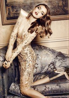 """Couture Dream""   Model: Sophie Vlaming, Photographer: Sylvie Malfray, Harper's Bazaar Romania, December 2009"
