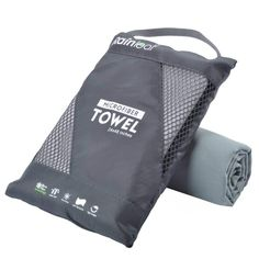 Microfiber Towel for Travel - Super Absorbent & Fast Drying for Sports - Ultra Compact Beach Towel - Quick Dry Lightweight Towel - Suitable for Camping, Gym, Swimming, Backpacking Cool Hand Luke, Urban Outfitters, Gym Bag Essentials, Gym Towel, Gym Backpack, Travel Items, Travel Products, Travel Gadgets, Shopping
