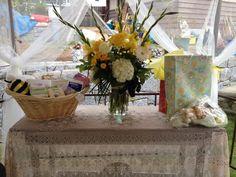 Flowers inside Gazebo
