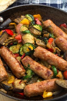 Traditional Italian Sausage with Vegetables (Salsiccia con Verdure) | Enjoy this authentic Italian recipe from our kitchen to yours. Buon Appetito!