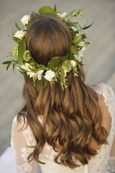 ♕ lovely floral wreath