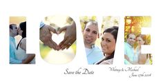save the date postcard LOVE