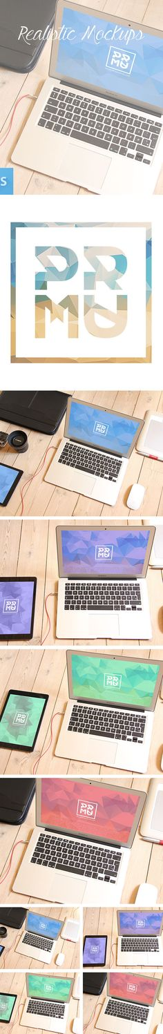 Free PSD Macbook Mockups for designers https://www.behance.net/gallery/19219921/Free-PSD-Mockup-Set #graphicdesign