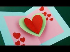 How to Make - Greeting Card Valentine's Day Hearts - Step by Step DIY | Kartka Walentynki Serca - YouTube