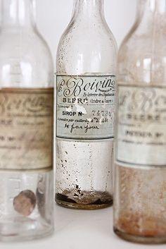 Old beer bottle packaging designs
