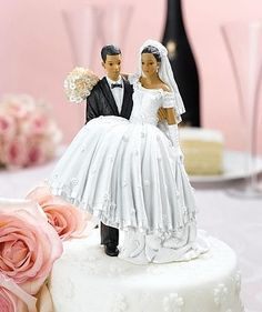 Black Bride And Groom Toppers