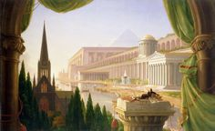 The Lion of Chaeronea — Architect's Dream, Thomas Cole, 1840