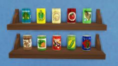 Canned Veggies. DownloadSimlish fonts by ajaysims & gazifu/Sims 4 Icons by TheSimKid/Made with Sims 4 Studio/Beer can mesh by sg5150! (Thank you for sharing!)