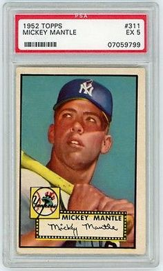 f7e7a66d77 Mickey Mantle 1952 Topps Baseball Rookie Card #311 - PSA Graded EX 5  #1952Topps