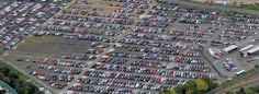 Birdseye view of the car park at Glasgow International Airport from the Park First investment.