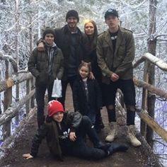 Beckham family, Christmas 2015