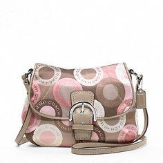 Coach Soho Snaphead Snap Head Flap Swingpack Messenger Bag Purse 46788 Pink Multi