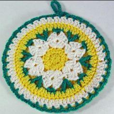 Free Crochet Pattern Daisy Potholder
