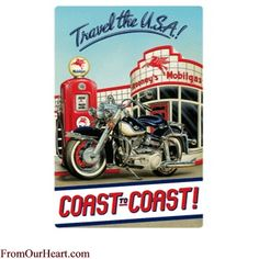 Coast to Coast Porcelain Sign by Ande Rooney. Measures 8 x 12 1/2. $21.25