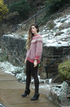 Blog post: vintage Icelandic sweater & metallic pants