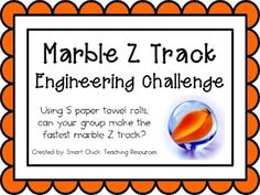 Marble Z Track: Engineering Challenge Project ~ STEM Activity! $