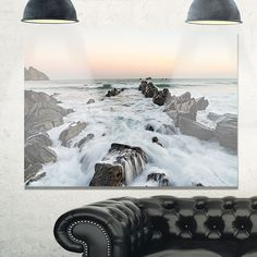 Bay of Biscay Atlantic Coast Spain - Extra Glossy Metal Wall Art Landscape