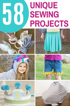 58 Unique DIY Sewing Projects to make for kids and adults. #sewingprojects #sewingprojectsforkids #sewingprojectsforadults