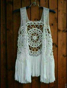 Gilet Crochet, Crochet Coat, Crochet Scarves, Vests, Wraps, Jackets, Dresses, Clothing, Women