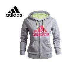 Barato Originais Adidas das mulheres jaqueta Com Capuz sportswear Simples frete grátis, Compro Qualidade América de Futebol Jaquetas diretamente de fornecedores da China: