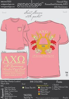 AXO t-shirt I'm literally only repinning this because it's our chapter's shirt. I'm so proud that we made it on Pinterest.
