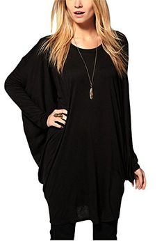 Bepei Women's Long Batwing Sleeve Round Neck Loose Fit Pleated Shirt Blouse Tee Top BLACK S BEPEI http://www.amazon.com/dp/B00L35TAIE/ref=cm_sw_r_pi_dp_ph1jub1KGW3D4