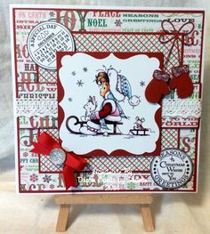 A topper from The Hobby House x Homemade Christmas Cards, Handmade Christmas, Homemade Cards, Christmas Crafts, House Cards, Whimsy Stamps, Hobby House, Marianne Design, Winter Cards