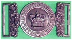 1st Administrative Battalion, Ayrshire Rifle Volunteers - Waistbelt Clasp c1860,  White Metal