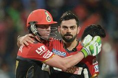 Virat Kohli and AB de Villiers added 115 runs for the second wicket